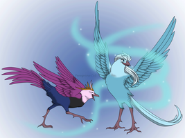 Disney Birds - Frozen by Peregrinestar