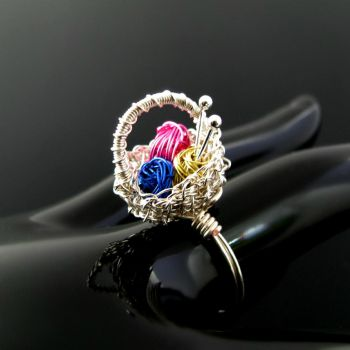 Yarn basket ring by CatsWire