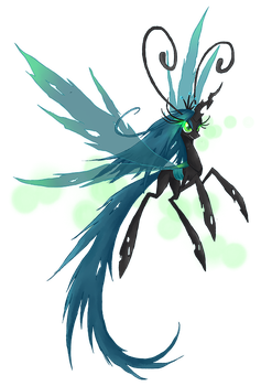 My Little Pony Queen Chrysalis Breezie by kaizerin