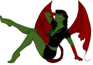 Devil Pin Up Girl by 6maryjane