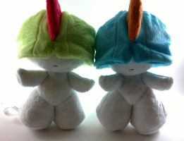 Ralts and shiny ralts plush for sale