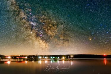 Milky Way over Lake Margrethe by blackismyheart90