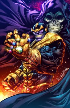 Thanos Inkscolor by ArtOfIanSnyder