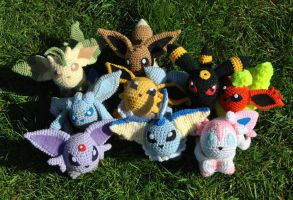 Eeveelution Outdoor Group Shot by ChibiSayuriEtsy