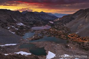 Bishop Pass Sunset by narmansk8