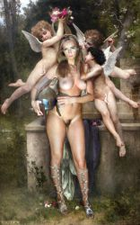Carina walkiria Dream_of_Spring by Bouguereau by FueledbypartII