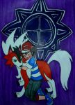 Ash with His Lycanroc by InkArtWriter