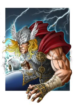 God of Thunder - Color by joaoMachay