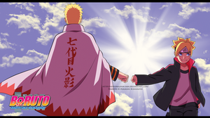 Naruto and Boruto - wallpaper by HonYakusha-san