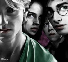 draco hermione harry e ron by Dhesia