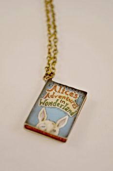 Alice in Wonderland Book Novel Necklace by AshsMysticEmporium