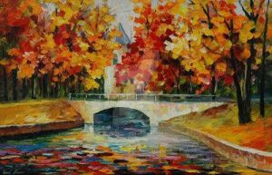 Golden Trees by Leonid Afremov by Leonidafremov