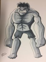 Inktober 2017 - Day 5 - Hulk by NoDiceMike