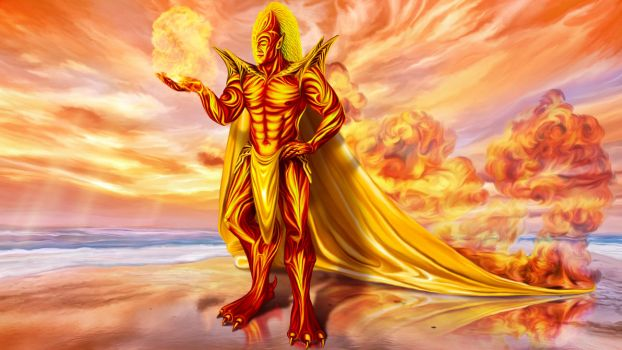 Dwain God of fire by exobiology