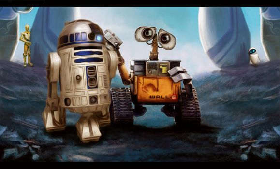walle and r2d2 by ctomuta