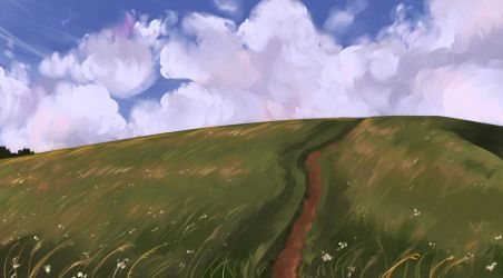 Cloud and Field by Mellodee