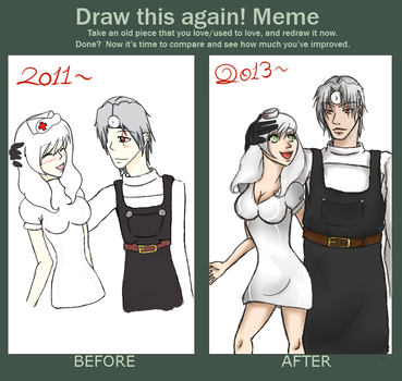 Before and After - Steinsiv and Vollkommen by xSoraxThexUkex