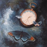 On silent wings time flies away by Julemus