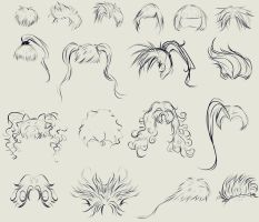 anime hair reference by ryky