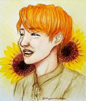 Sunflower boy aka J-Hope by timii95