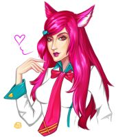 Sketch Ahri (League of legends) by AnnaBeck