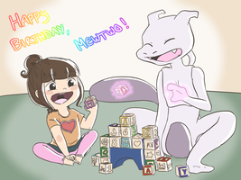 Happy Birthday Mewtwo!!!!!!!!!!!!!!!!!!!!!!!!!!!!! by MeowMix72