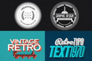 Free Retro/Vintage Design Bundle by hugoo13