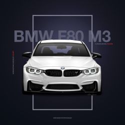 BMW M3 F80 Poster Design by Active-Design