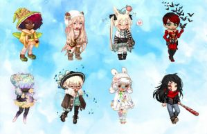 open : fabulous gaia adopts *with themes* ! 6/8 by Violeta-Adopts
