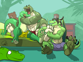 Reptilian's Tickling Competition by benj24