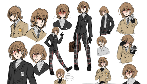 Akechi sketch dump by Gavala