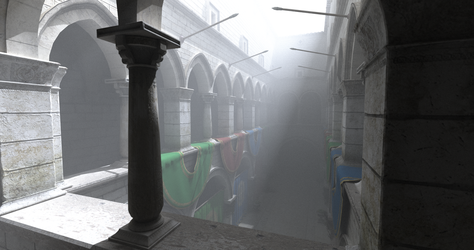 Sponza Crytek with participating media by patlefort