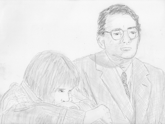 Mary Badham and Gregory Peck 1962 by diodotus