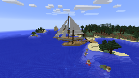 Riverboat, sloop and fishing ketch by ColtCoyote