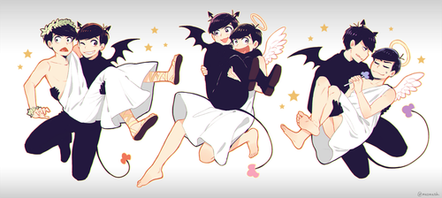 Osomatsu-san - Devils and Angels by Meoon