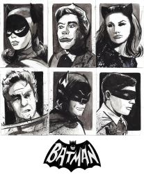 Batman 66' Sketchcard Commissions by CartoonCaveman