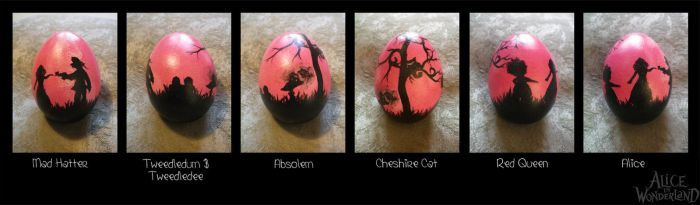 Easter Egg Alice in Wonderland by Ashqtara
