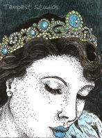Blue Queen ATC by TempestErika