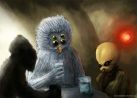 Cantina Mos Eisley - Star Wars by Fluorescentteddy