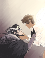 a king and his angel by Cissil98