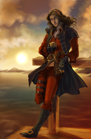 Pirate Captain- Commission by SicilianValkyrie