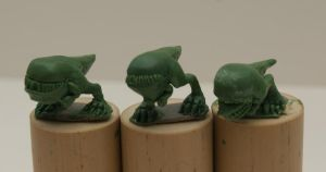 Tiny Carnosaurs by SpaceCowSmith