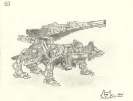 Command Wolf Pencil Sketch by nintensony