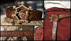 Tooled Renaissance Belt by Adhras