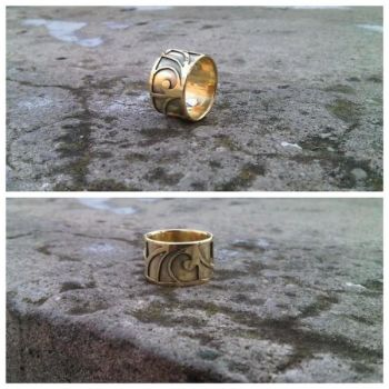 Two Layer Gold* Ring by JKL-Designs