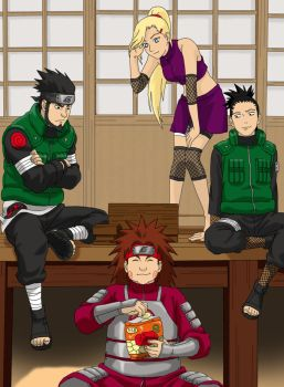 Asuma Team - Free Time by KakashiHatake88