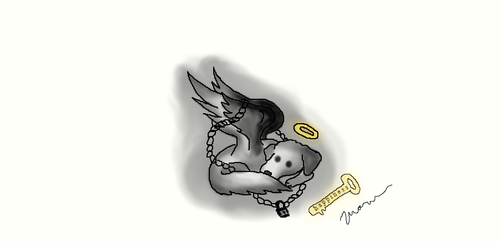 Chained Angel Dog by D0gsrule30