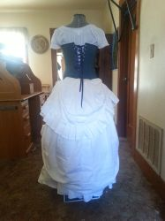 back view victorian gypsy dress by Iryss--reflections