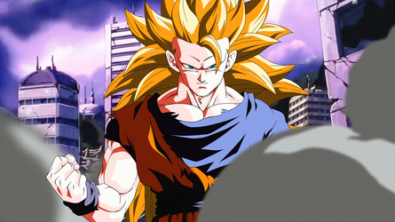 Fighting for Victory. Goku SSJ3 by Koku78