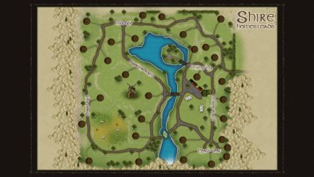 homestead in the Shire map by WorldOfMiddle-earth